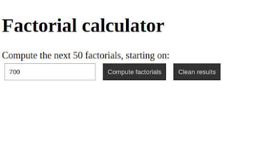 factorial calculator