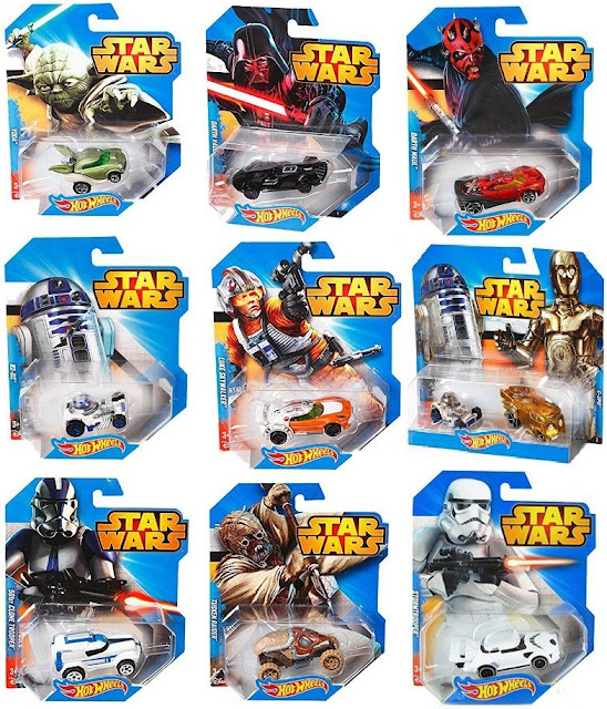 Bộ sản phẩm xe ô tô Hot Wheels Star Wars CGW35