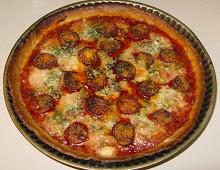 Tarte aux boulettes façon pizza