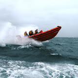12 June 2011 - ILB exercise in rough weather (southerly force 7, gusting 8, heavy rain) (Photo credit: Rob Inett)