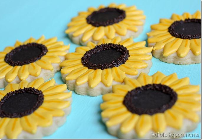 Frozen Fever Sugar Cookies - Sunflowers