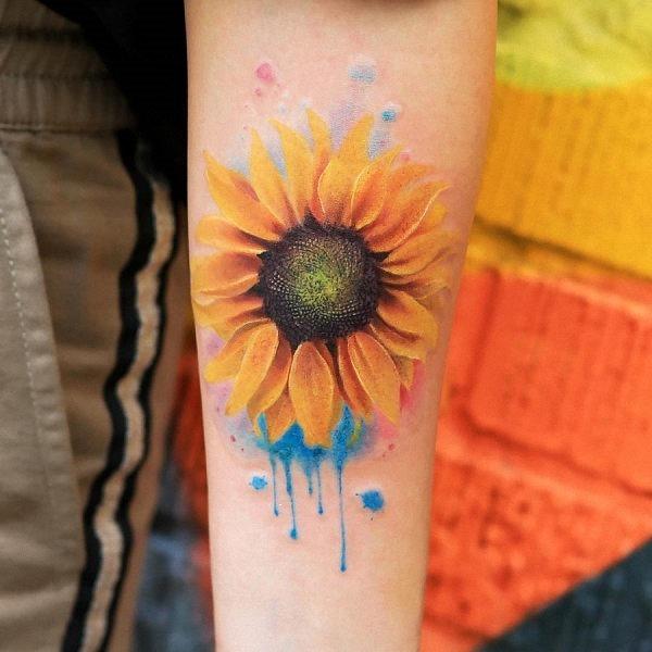 este_deslumbrante_aquarela_tatuagem_de_girassol