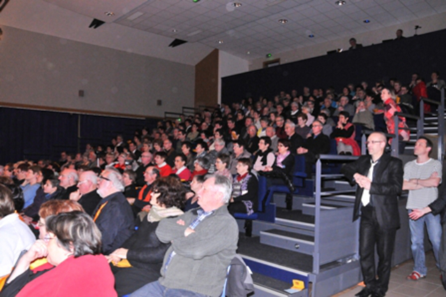 Exemple de manifestation de soutien : Spectacle avec Yannick Jaulin à la Roche sur Yon