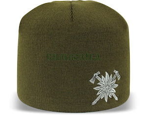 Шапка олива з вишивкою Гірської піхоти