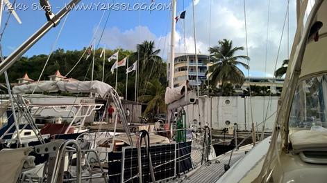 Y2K ormeggiata presso Caribe Marine