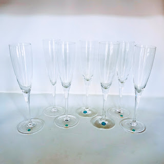 Tiffany & Co. 7 Crystal Champagne Flutes
