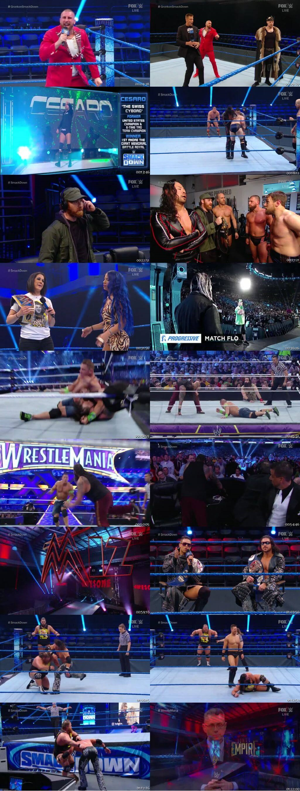 Screen Shot Of WWE SmackDown Live 20th March 2020 HDTV 480P 300MB