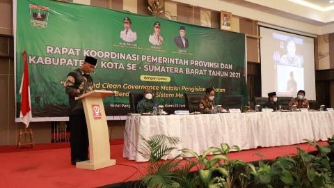 Gubernur Mahyeldi Buka Rakor Pemprov dan Kabupaten/ Kota se Sumbar, Bahas Sistem Merit Dalam Pengisian Jabatan
