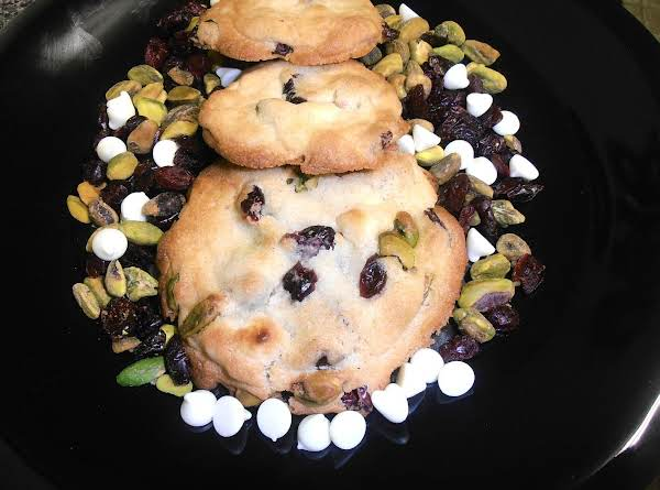 Snowy Holly Berry Tree Cookies