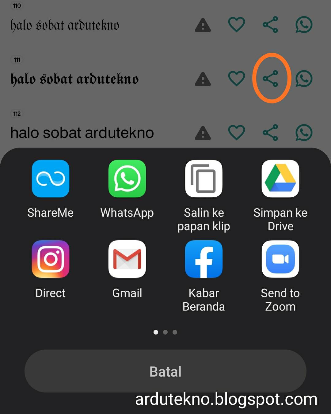 mengubah font whatsapp dan instagram jadi keren