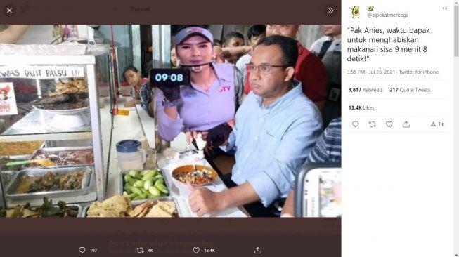 Soal Makan di Warteg Dibatasi 20 Menit, Anies: Bisa Makan Pakai Masker?