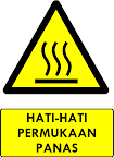 Rambu Bahaya Permukaan Panas