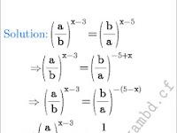 যদি (a/b)ˣ⁻³ = (b/a)ˣ⁻⁵ হয়, তবে x  এর মান কত?