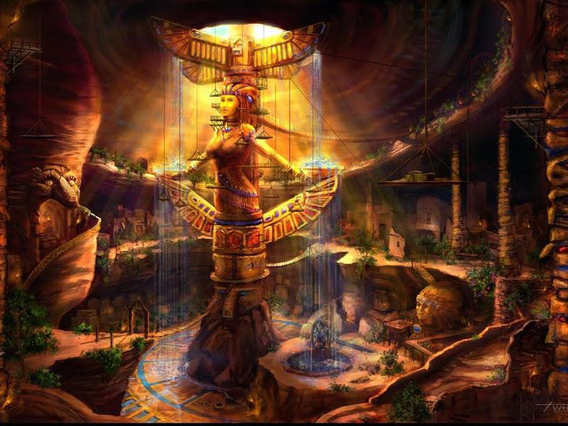 Statue Of Ancient Gods, Goddesses