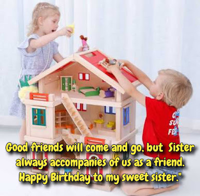 Kids building playhouse, Birthday wishes for friends.