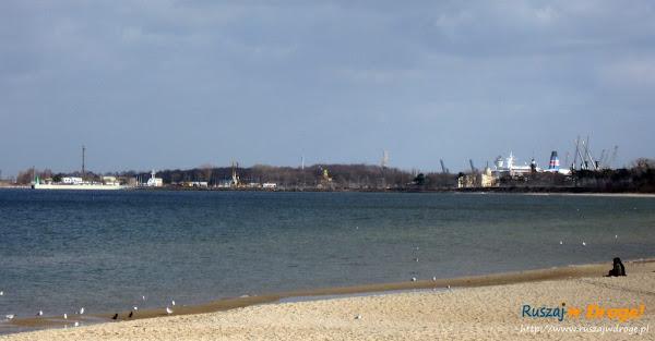 widok na gdański nowy port