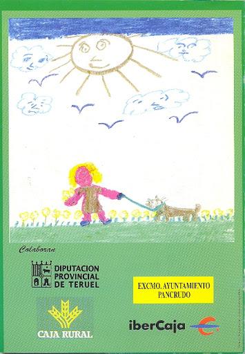 Contraportada Revista Pancrudo nº7 (2003). Dibujo: Un día de verano, por Cristina Lor (9 años)