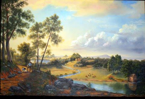 """View of the Hudson"" by artist Pat Bistline."