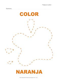 Dibujo para delinear y trazar el color naranja