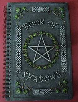 Book Of Shadows Steel Grey Pentagram, Book Of Shadows