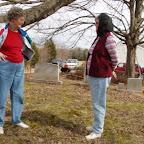 Hilda & Donna talk ancestors.