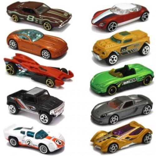 Đồ chơi mô hình xe ô tô Hot Wheels 10 Car Pack Mattel 54886