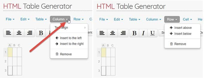 html-table-generator