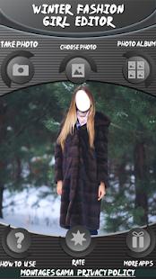 Zimní móda dívka editor - náhled