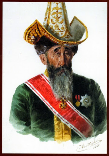 Sultan Baimuhammed by S. Aleksandrovsky. 1889. From  An Illustrated History of Kazakhstan: Asia's Heartland in Context
