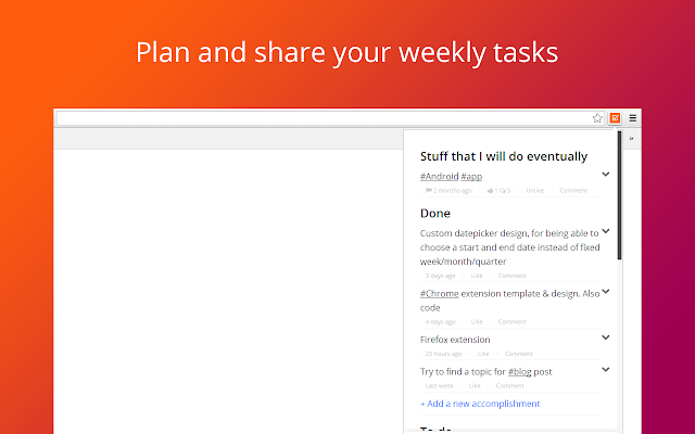 Weekdone plan and share your weekly tasks chrome web store an error occurred pronofoot35fo Gallery