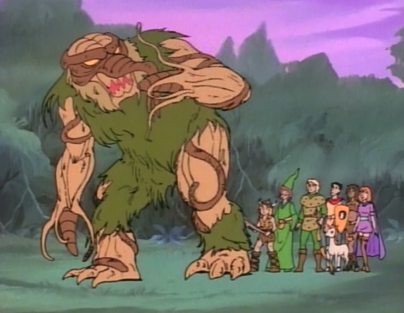 Shambling mound gestures to the kids