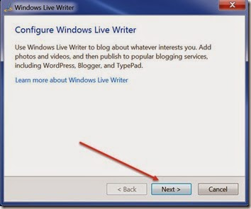 WindowsLiveWriterConfigure