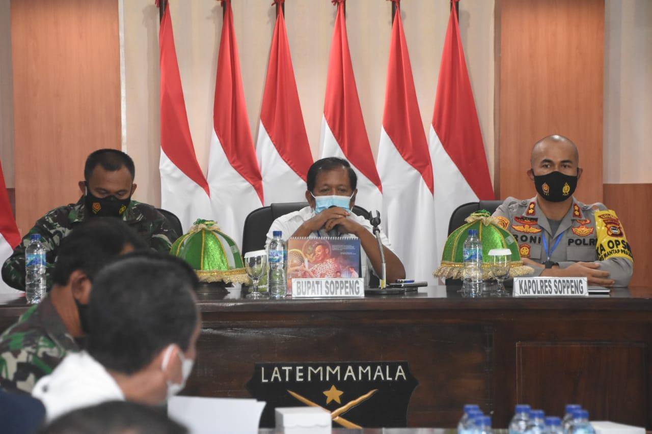 Bupati dan Forkopimda Bahas Mekanisme Penanganan Covid-19 Terkait Acara Resepsi Pernikahan di Kabupaten Soppeng