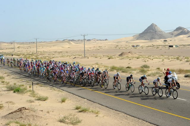 Oman - The Peloton Stage 3 of Tour of Oman 2011 (photo credit: desert bike race.jpg static3.kilu.net)