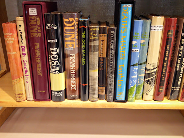 2014 Seattle Antiquarian Book Fair, October 11 and 12, 2014. Books by Frank Herbert.