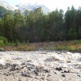 Le Baksan à Cheget, 2200 m (Terskol, Kabardino-Balkarie), 12 août 2014. Photo : J. Marquet