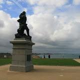 Bastion de la Hollande : statue de Jacques Cartier