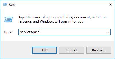 Run services.msc windows 10