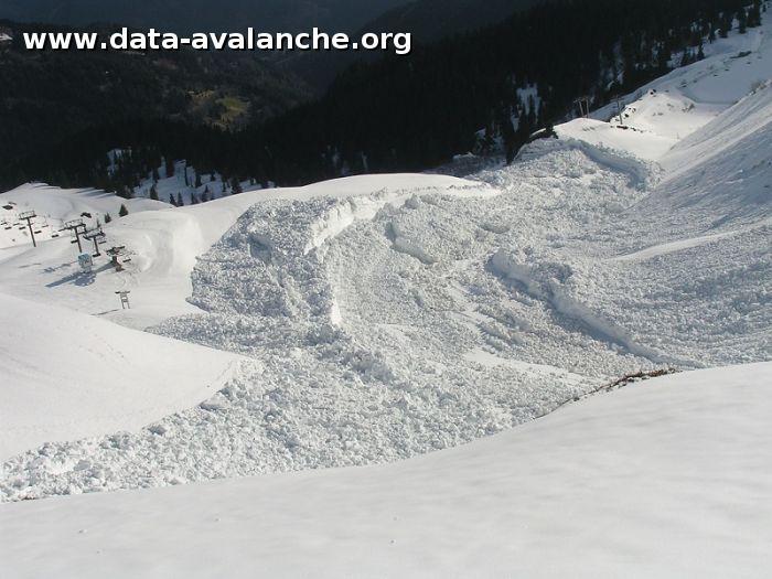 Avalanche Haut Giffre, secteur Tête du Pré des Saix - Photo 1 - © Plu Dominique
