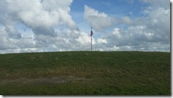 Flag on top of Heiffer Indian Mound