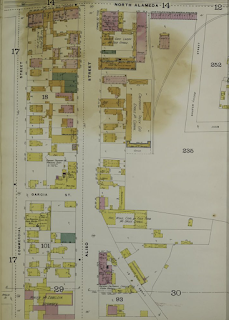 Map showing Alameda, Aliso, and Commercial Streets, 1894.