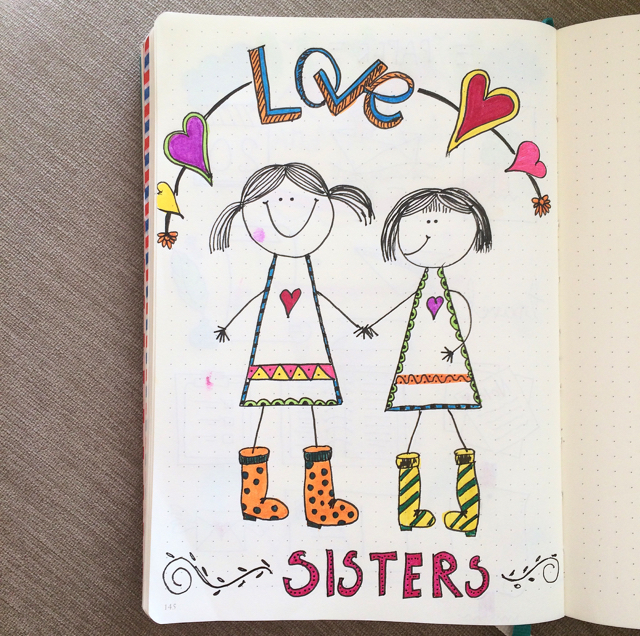 #100DaysOfDoodles   Day 11   Sisters are the Best!   The 100 Day Project