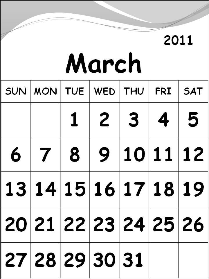 printables calendar 2011. Free Printable Calendar 2011