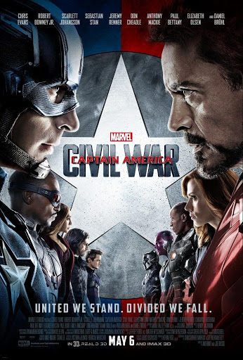 Captain America: Εμφύλιος Πόλεμος (Captain America: Civil War) Poster