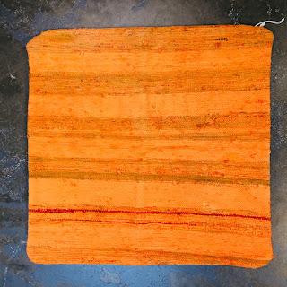 John Derian Double Sided Orange Flat Weave Sham