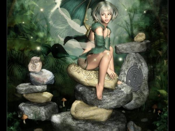 Fairy On Ancient Stones, Fairies Girls 2