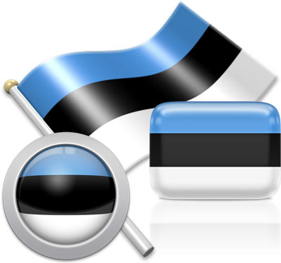 Estonian flag icons pictures collection