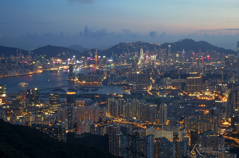 飛鵝山欣賞日落與夜景(香港)