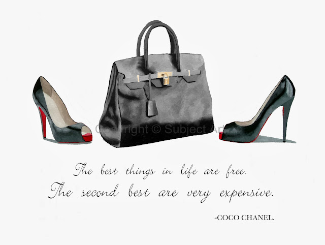 ART PRINT CHRISTIAN LOUBOUTIN Shoes, Hermes Birkin Bag 10 ...