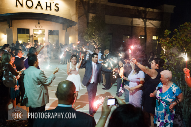 sparkler exit at a wedding in Dallas, TX photography